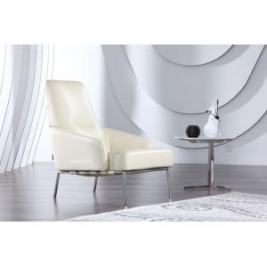 China Luxury Leather Arm Chair , Office White Modern Upholstered Chair , Italian leather armchair on sale