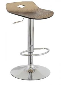 China Modern Acrylic Swivel Bar Stools Backless Chrome Base SGS / TUV Certification on sale