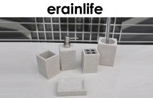 China Sandstone Bathroom Accessories Sets / 5Pcs Grey Modern Modern Bath Accessories on sale