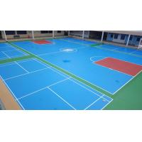 China Synthetic Polyurethane Sports Flooring For Futsal / Basketball Court Surface Coating on sale