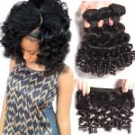 Brazilian Bouncy Curly Hair Bundles Human Hair Weave Remy Hair Extensions Natural Color