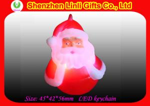 China Cheap PVC led light up key chain for Personalised christmas Decorations gift  on sale