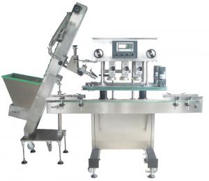 China Vacuum Mineral Water Bottle Capping Machine , Stable Semi Automatic Bottle Capper on sale