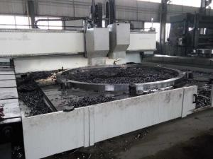 China high speed CNC drilling machine for wind tower flanges TLMZ6060 on sale