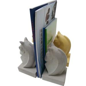 China Animal Shape Decorative Concrete Bookends Yellow , White Painting on sale