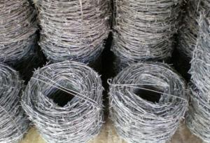China Zinc Coating Security Barbed Wire Metal For Protecting Mesh / Grass Bound on sale
