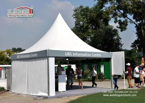 China Transparent Event Pagoda Gazebo Tent , Aluminum Frame Removable Equipment Marquee on sale