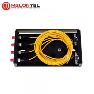 China Indoor Metal Fiber Optic Distribution Box MT 1201 Wall Mounted Fully Loaded 4 Core With SC Pigtails on sale