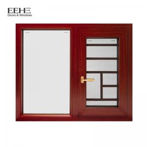 China Natural Anodized Type Aluminium Casement Window With Mosquito Net 5+20A+5mm on sale