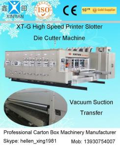 China Auto Slotting Flexo Printer Slotter Die Cutter Machine For Corrugate Board on sale