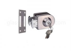 China Sliding Sturdy Glass Door Lock Chrome Polished Finish Brass Cylinder Material on sale