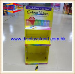 China Carton Retail Display With 4C Header , Shelf Floor Display Unit , Power Wing Stand on sale