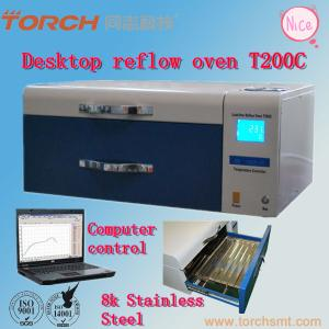 China Small desk Automatic T200C+ with Temperature Test SMT LED reflow oven solder Reflow oven machine on sale