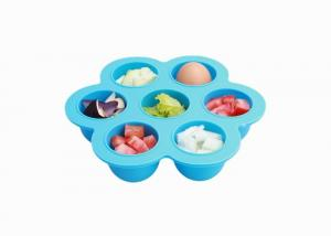 China BPA Free Silicone Egg Bites Mold , Baby Food Storage Containers FDA Certified on sale
