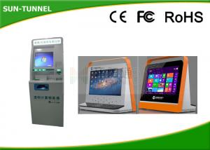 China High Brightness Touch Screen Information Kiosk Self Service Check In Machine on sale