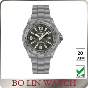 China Sapphire Glass Universal Titanium Watch , Automatic Field Titanium Quartz Watch on sale