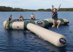 China Strong Inflatable Water Trampoline Combo With Slide , Inflatable Water Games on sale