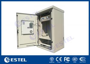 China DC Air Conditioner Cooling Pole Mount Enclosure Power Supply With 21U 19 Inch Rack on sale