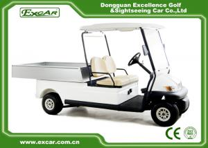 China Trojan Battery Powered Electric Utility Carts 2 Seater Golf Cart Utility on sale