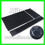 Supply and custom white black red yellow soft silicone bar mat for glasses