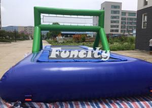 China 0.9MM PVC Tarpaulin Inflatable Sport Games Water Volleyball Court / Water Bossball supplier