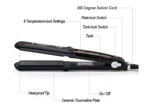 China Professional  Ceramic coating plate Steam Hair Flat Iron LED Display on sale