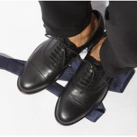 Genuine Leather Men Formal Dress Shoes With Comfortable Pointed Toe Design
