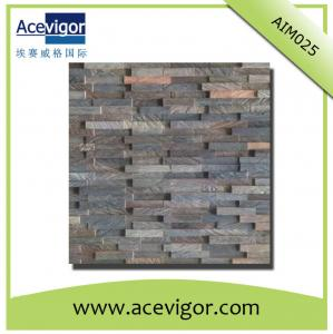 China Vintage style wood wall mosaic panel for wall decorative tiles on sale