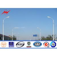 China Car Park 12m Lamp Steel Parking Lot Light Pole , MHL / HPS Post Light Pole on sale