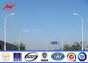 China Car Park 12m Lamp Steel Parking Lot Light Pole , MHL / HPS Post Light Pole on sale