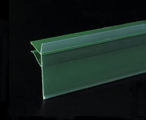 China Suporte verde do sinal da tira dos dados do PVC para prateleiras da alameda e preço introduzido on sale