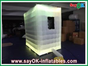 China Logo Printing Inflatable Blow-up Photobooth For Photostudio With Pitched Roof on sale