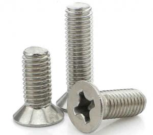 China 410 Round Head Phillips Steel Machine Screws , M2 M3 40mm Stainless Steel Screws on sale
