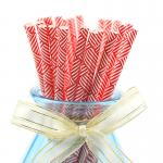 Customer Printed Paper Party Straws 0.25 Inches Diameter Durable Reyclable