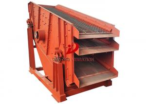 China Sing Deck Stone Circular Vibrating Screen Sifting For Coal Ore on sale