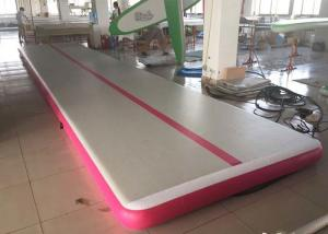 China 3M pink or customize Inflatable Sports Games gym mat / tumble track 0.55mm pvc on sale