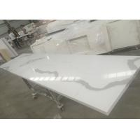 Solid Surface Calacatta Quartz Slab Countertops With White Vein OEM / ODM Avaliable