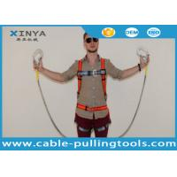 China Adjustable Full Body Harness Fall Protection Equipment Two Big Hook Along With Buffer Bag on sale