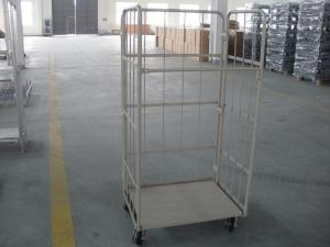 China Customized 3 Side Foldable Steel Rolling Carts Workshop Nestable Hand Truck on sale