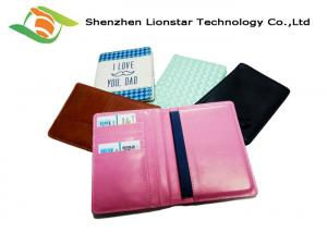 China Handmade Leather Craft Gifts , PU Leather Passport Holder Travel Wallet on sale