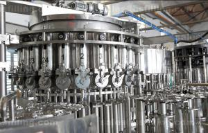 China Soft Carbonated Drink Filling Machine , 3 In 1 Washing Filling Capping Equipment on sale