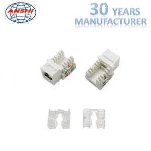 100 Pass Fluck Test Anshi Rj45 Cat6 Keystone Jack 90 Degree Utp Connection With Dust Cover Of Rj45 Keystone Jack
