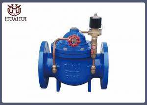 China Electric Hydraulic Control Valve Brass Seat Ss410 Stem 32 Blue Color on sale