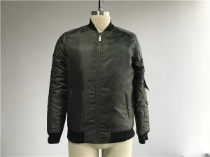 China Men's Fatigue Polyester Bomber Jacket With Tap On Zip Pocket TWS15781 on sale