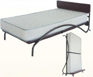 China Steady Single Modern Upholstered Beds Low Headboard Retro Contemporary Furniture on sale