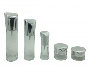 China 20g 30g 50g Clear Empty Cosmetic Containers , Glass Cosmetic Jars For Eye Cream on sale