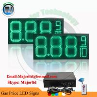 Outdoor Waterproof Green LED Gas Price Changer Panel with Wireless Remote control