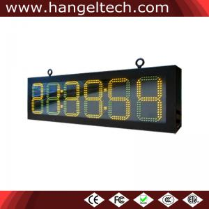 China Outdoor LED Digital Time Temperature Display Board HH:MM:SS, 8 Inches Digit on sale