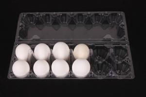 China 12 cell clear PET egg boxes manufacturers on sale