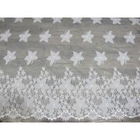 Cotton Eyelash Trim Embroidery Lace Fabric For Curtain And Clothing